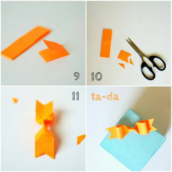 DIY2 post it paper bow