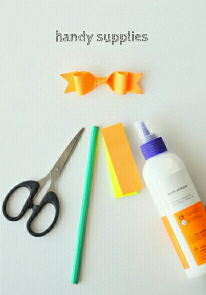 Handy supplies for paper bows